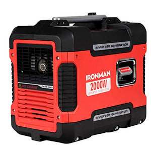 2000W Portable Inverter Gasoline Generator Ultra Quiet 4 Stroke Single Cylinder High Efficiency Relatively Quiet Operation Forced Air Cooling System Prevent Overheating Max 10.5 Hours Daily Use