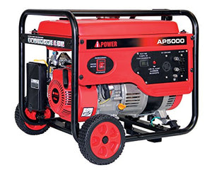 A-iPower AP5000V 5000-Watt Gas Powered Portalable Generator | AP5000, 5000 WATT Oranage