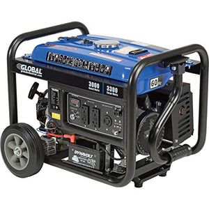 3000 Watts Portable Generator, Gasoline, Recoil Start, 120V, Lot of 1