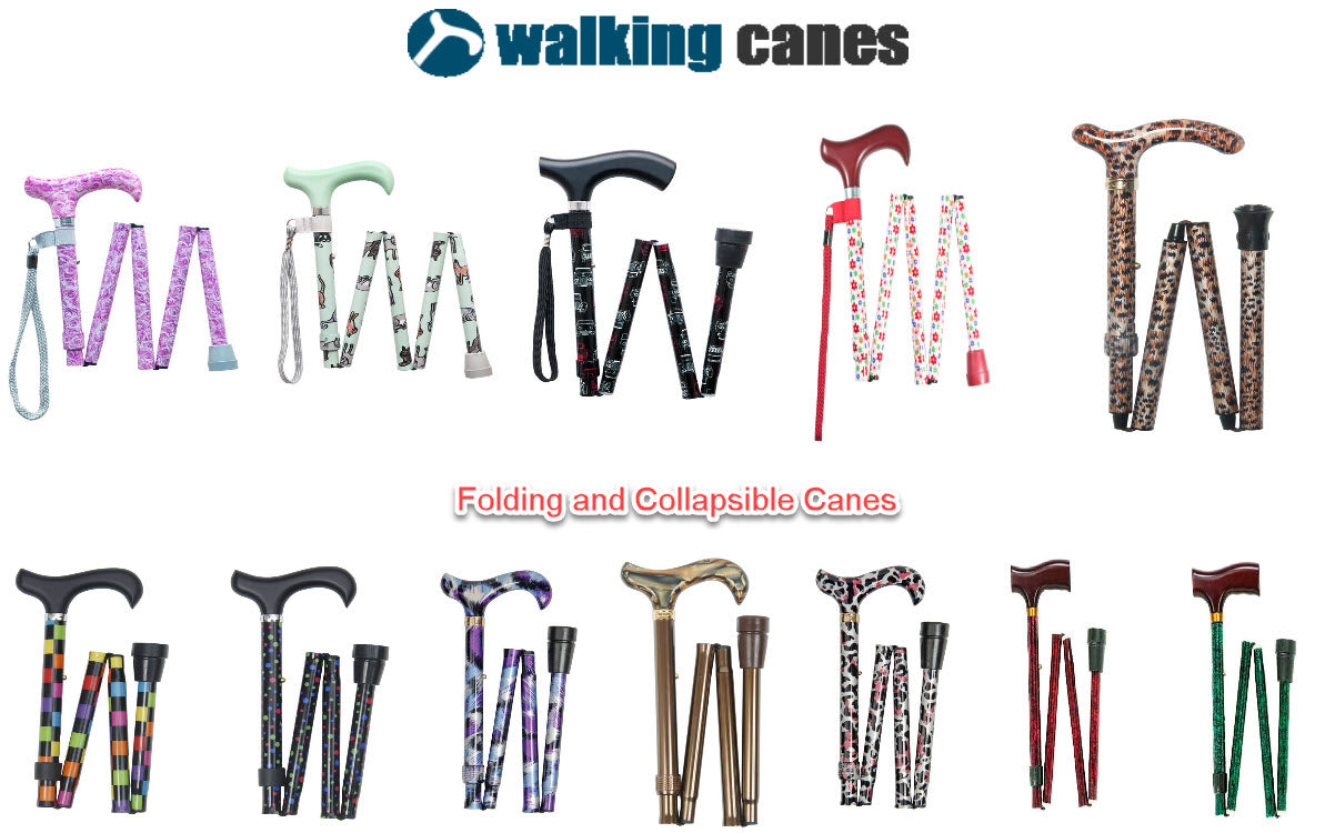 Various Folding Canes for Consumers