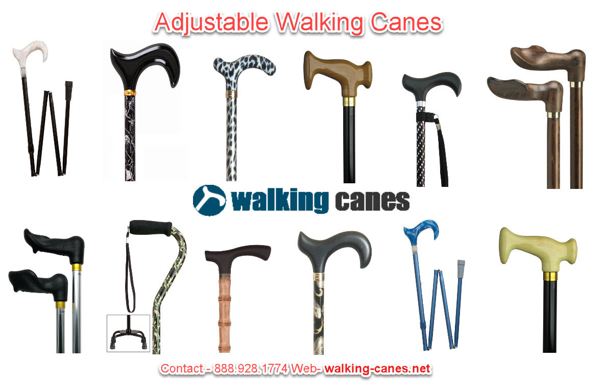 adjustable walking canes