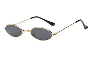 Retro Vintage Small Round Sunglasses for Men and Women - Black