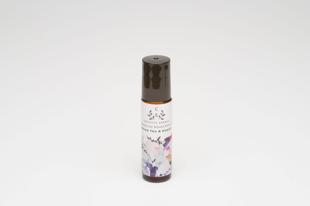 White Tea & Violet Roll On - Creative Energy Candles