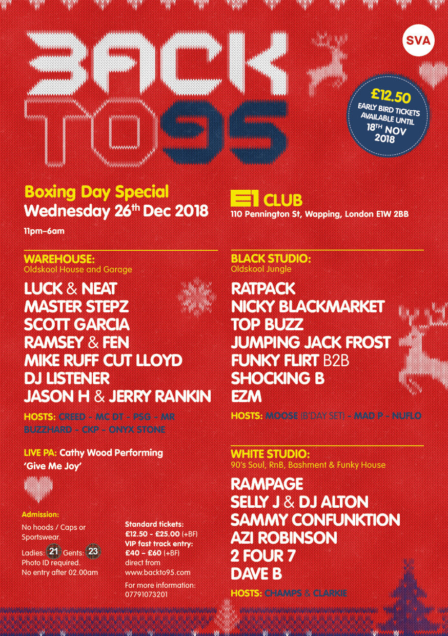 BOXING DAY SPECIAL AT E1 CLUB LONDON
