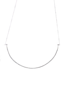 Fine Silver 2.5 inch bar Necklace