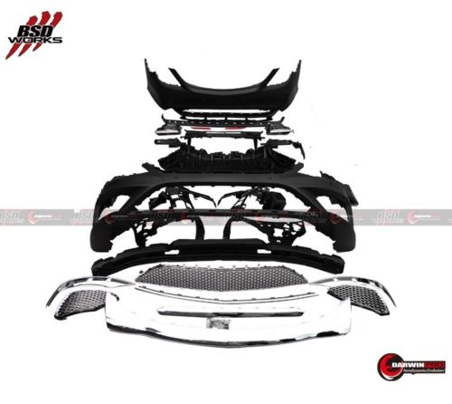 Darwin Pro - 2014-UP Mercedes Benz W222 S Class S63 S65 AMG Front + Rear Bumper+Tip Body Kit