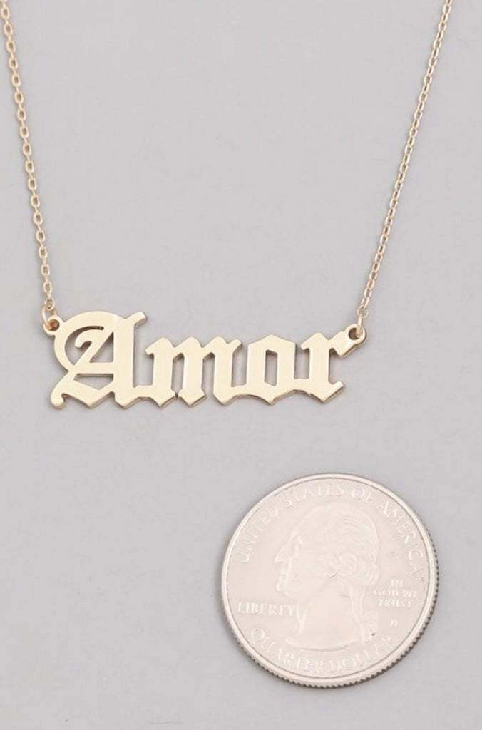 Amor Necklace - Gold
