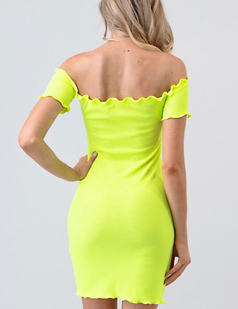 Dream On Dress - Neon Lime