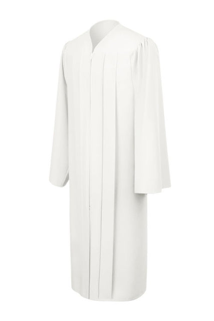 Matte White Choir Robe - Church Choir Robes - ChoirBuy