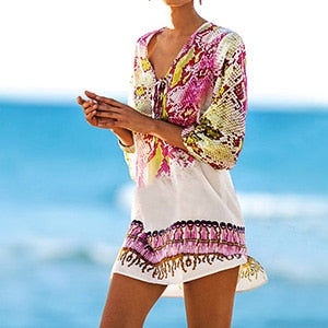 Snakeskin Beach Cover up