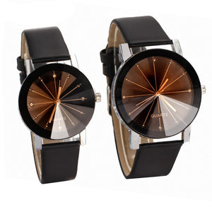 Lover's Delicate Leather Band Quartz Wristwatch - shoppingridge