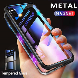 Magnetic Metal Cases for iPhone XR to iPhone 6 - shoppingridge