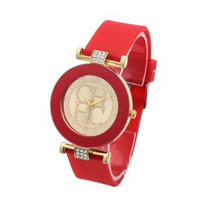 Fashion Brand Gold Geneva Sport Quartz Watch for Women - shoppingridge