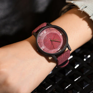 Leather Quartz Fashion Wooden Watch for Women - shoppingridge