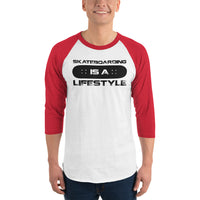 Skateboarding (Lifestyle) Men's 3/4 Sleeved T-Shirt