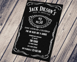 JACK DANIELS BIRTHDAY INVITATION - CUSTOM INVITATION FOR ADULTS