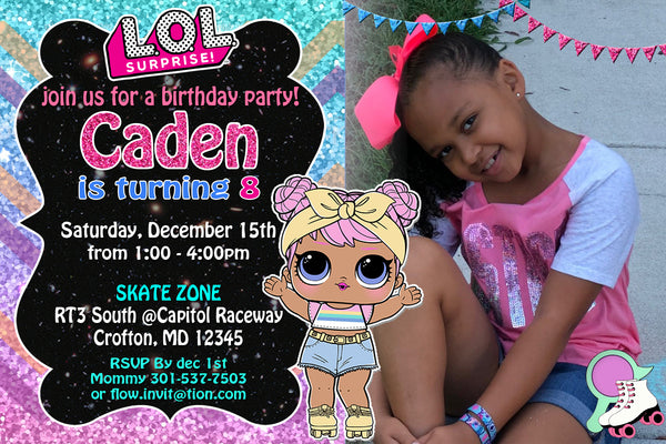 LOL SURPRISE DOLLS BIRTHDAY INVITATION - LOL SURPRISE BIRTHDAY - PRINTABLE INVITATION