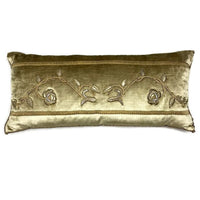 Antique Raised Gold Embroidery Pillow