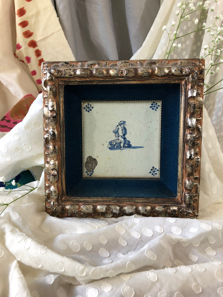 Framed Dutch Tile