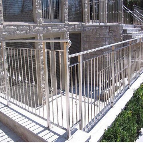 Outdoor metal railings