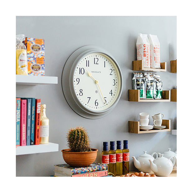 Large Decorative Mid-Grey Wall Clock - Newgate Westhampton WEST117PGY (homeware) 1 copy