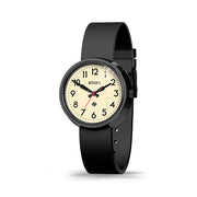 Retro Black Watch - Easy-Read-Dial Silicone Strap - Men's Women's -British Design - Newgate Electric WWMELCK011SK (skew)