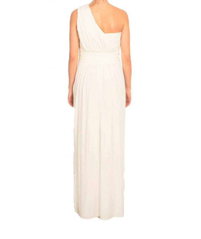 One Shoulder Gem White Column Gown - REHEART 💜 Canadian Online Wardrobe-Sharing Platform