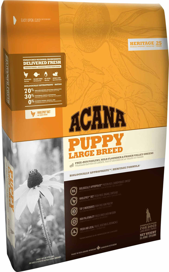 Acana Heritage Large Breed Puppy 11.4kg
