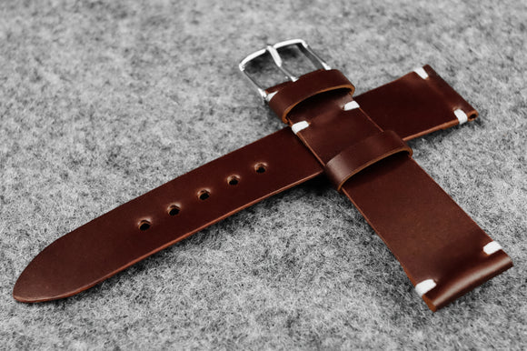RM: Japanese Shell Cordovan Brown Unlined Watch Strap (19/16)