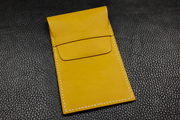 Italian Leather Watch Pouch (Yellow)