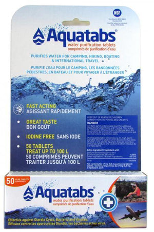 AquaTabs Water Purification Tablets 50 x 1 Litre