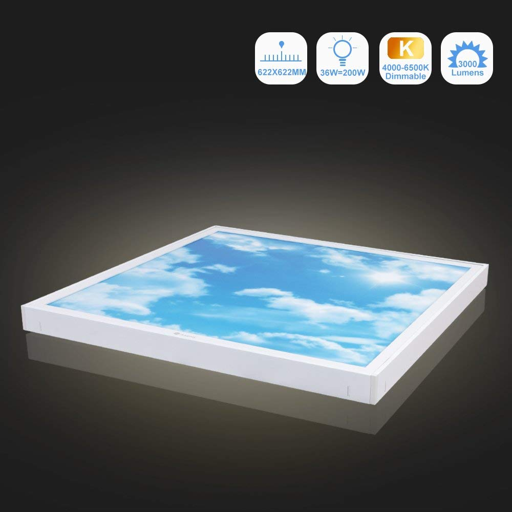 36W Dimmable LED Ceiling Light (622x622mm) - Awenia