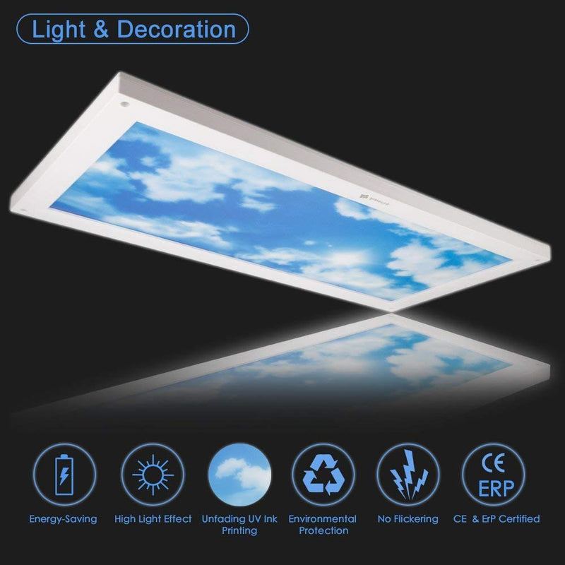 24W Dimmable LED Ceiling Light (30x60cm) - Awenia