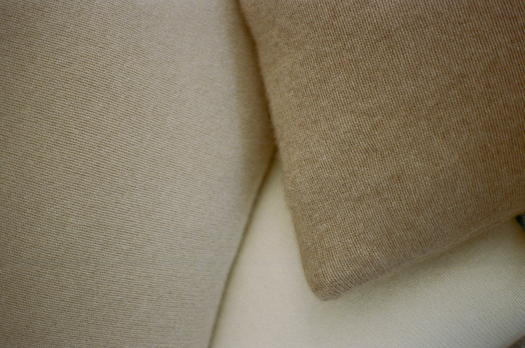 "Bespoke 20"" Italian Cashmere Jersey Knit Down Pillow - Custom Colors Made to Order (8-Week Lead Time)"