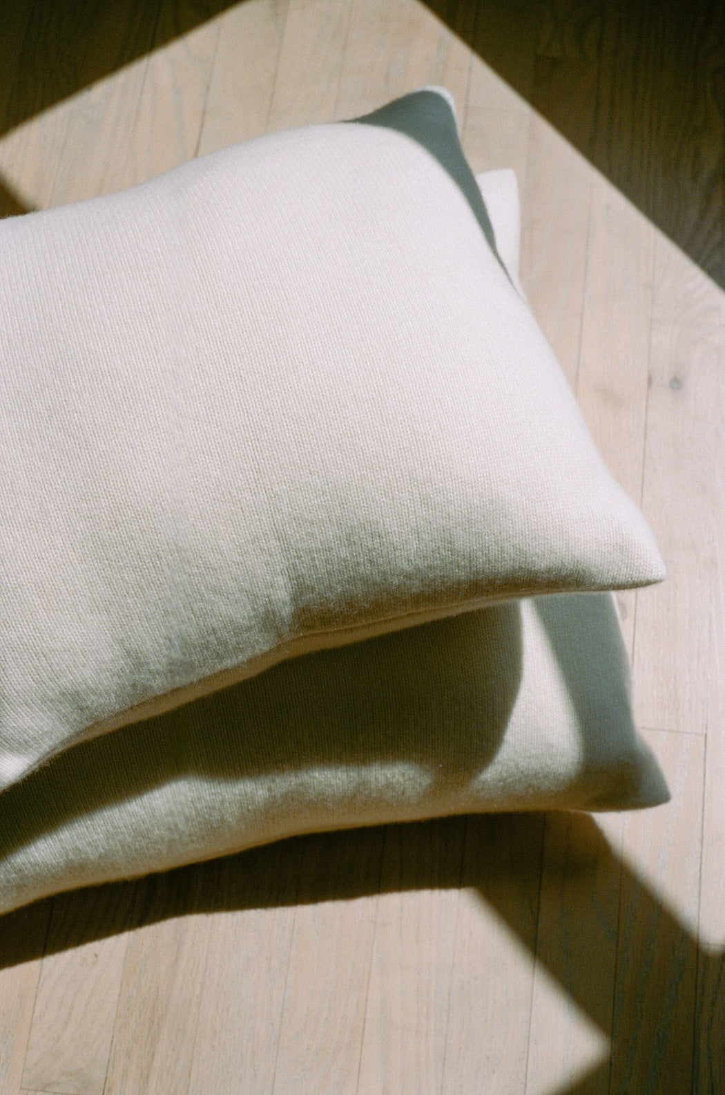 "Bespoke 24"" Italian Cashmere Jersey Knit Down Pillow - Custom Colors Made to Order (8-Week Lead Time)"