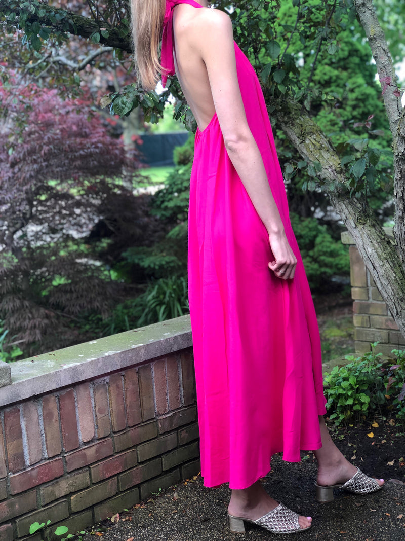 Fuchsia Halter Dress