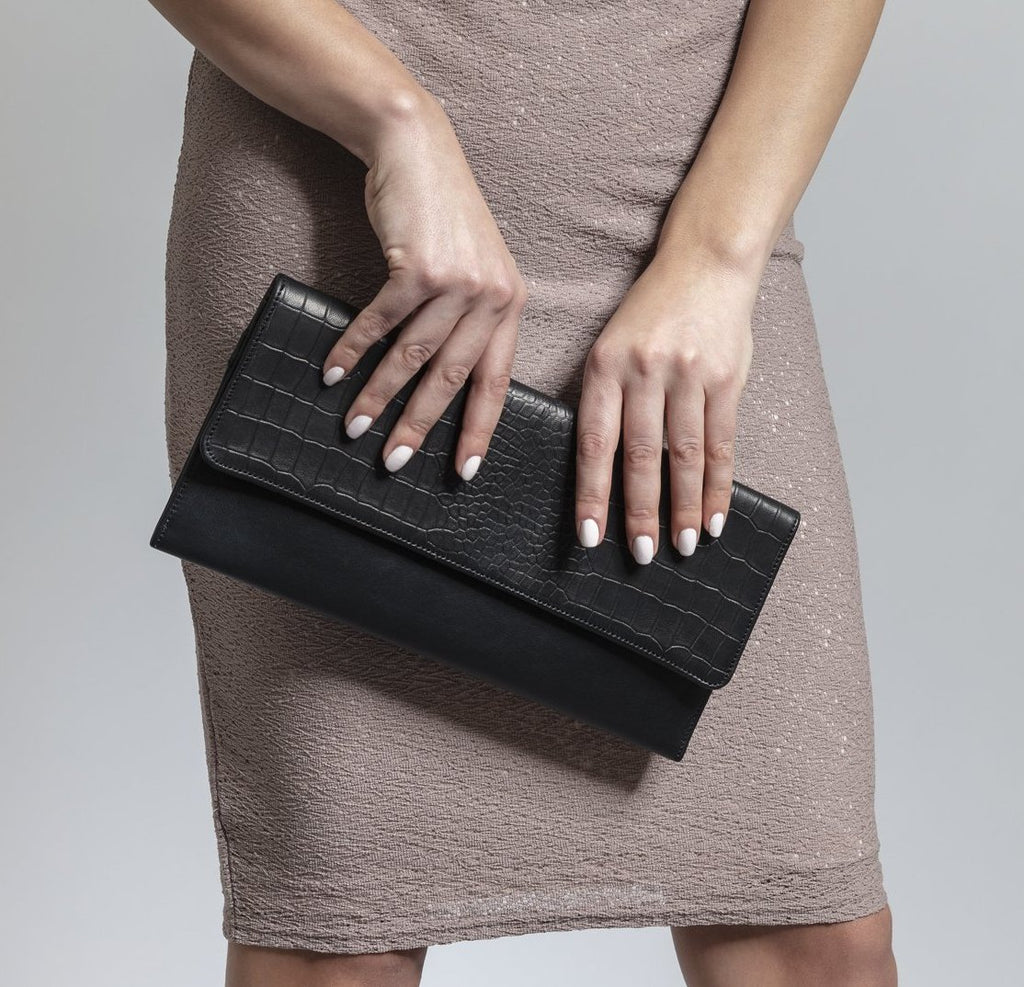 The Jets Croc-Effect Leather Clutch - SSY Designs