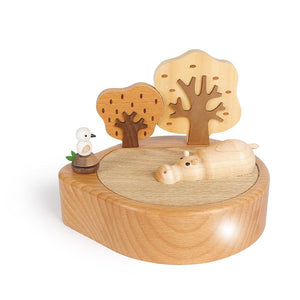 Wooden Light Hippo