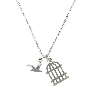 Short Story: Silver Bird Cage Necklace