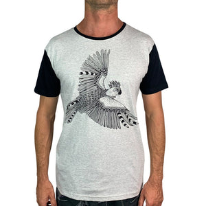 Cockatoo Lines Grey Marle Mens Tee