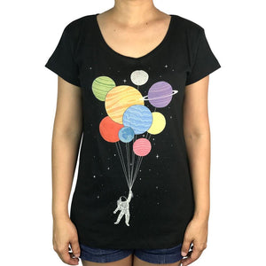 Final Frontiers Charcoal Womens Tee