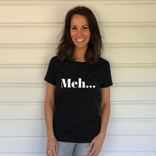 Meh... Heavy Black Cotton T-Shirt (Lifestyle)