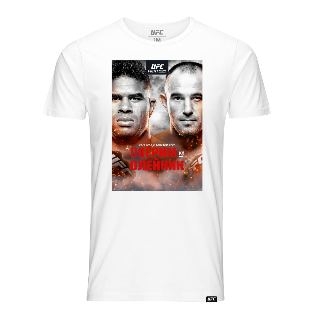 Men's Fight Night St Petersburg Overeem vs Oleinik Event Tee-White