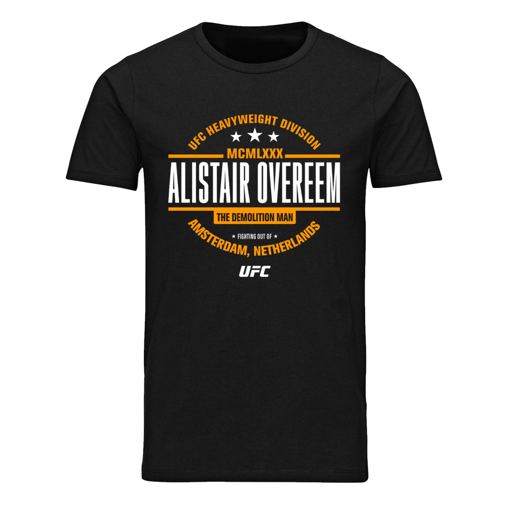 "UFC Alistair ""The Demolition Man"" Overeem MCMLXXX T-Shirt- Black"