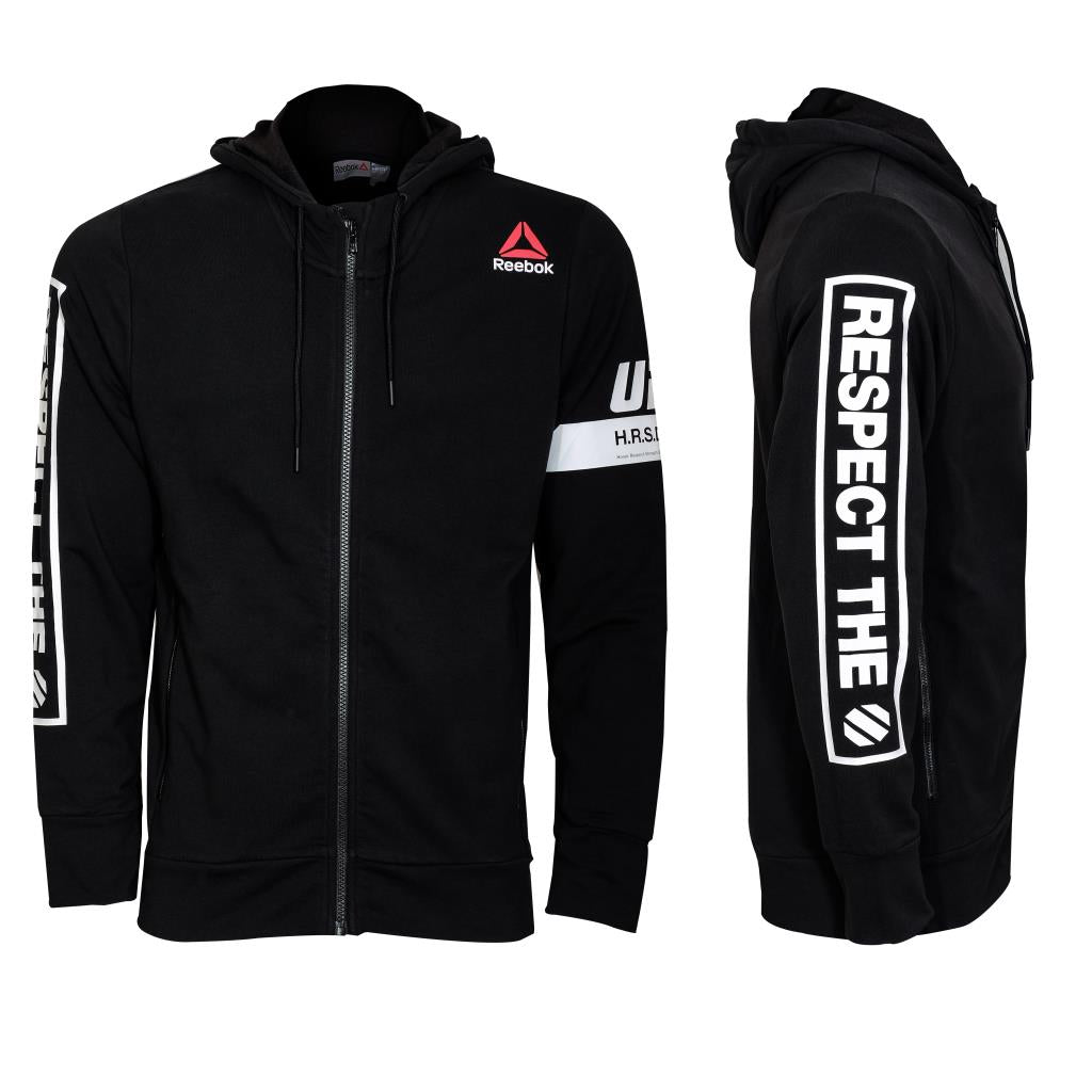 Reebok UFC Full Zip Fleece Hood-Black