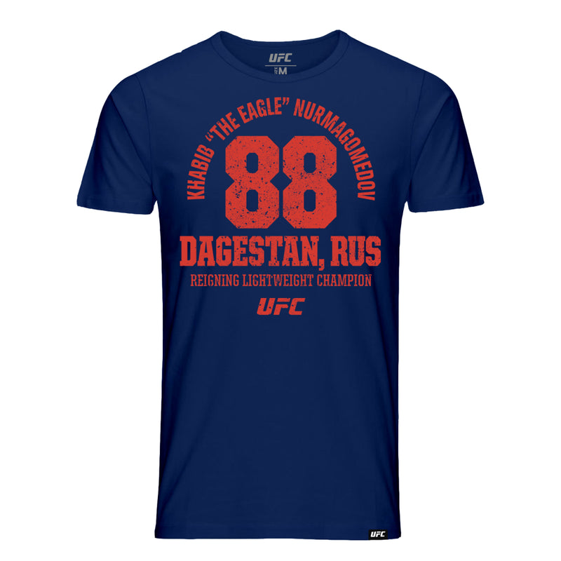 "Khabib ""The Eagle"" Nurmagomedov Russia Est 88 T-Shirt - Navy"