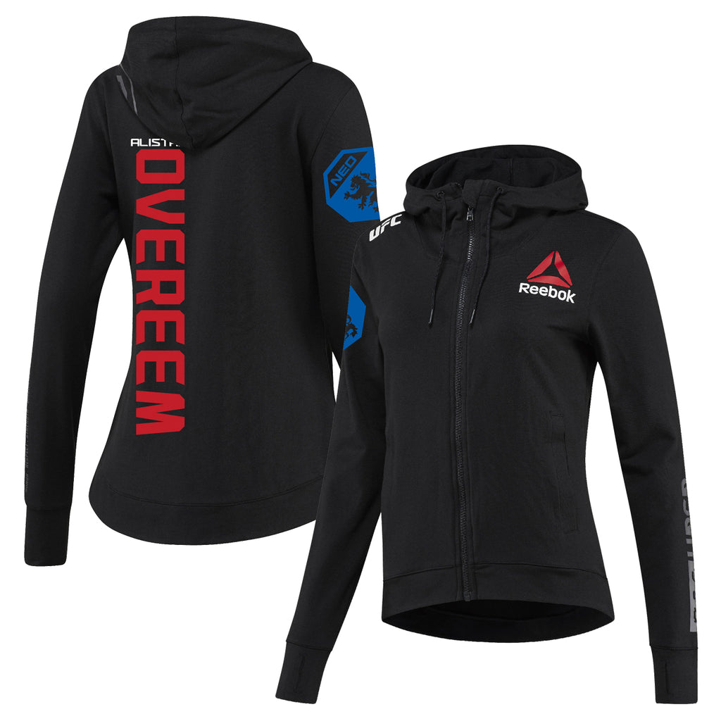 Women's Reebok Alistair Overeem Black UFC Fight Night Walkout Hoodie Replica