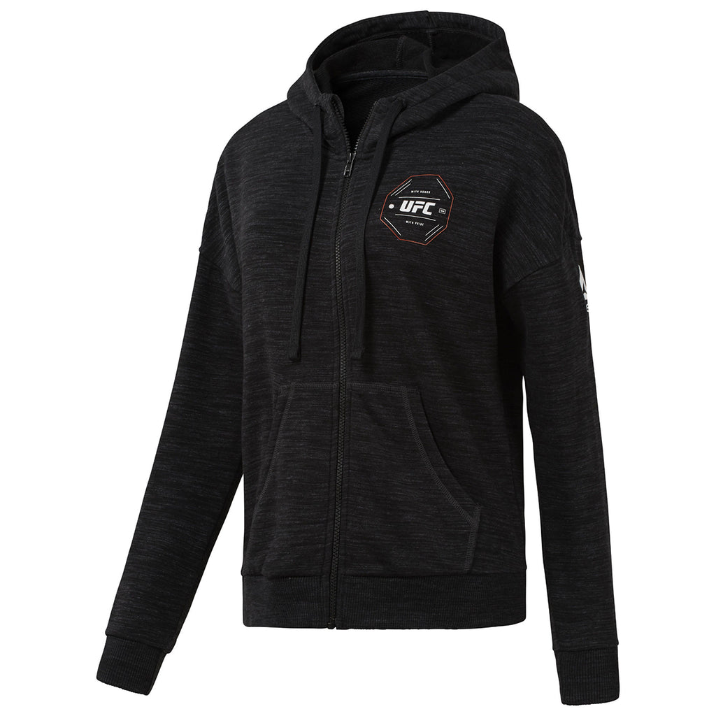 Women's Reebok UFC Fan Gear Full Zip Hoodie - Black