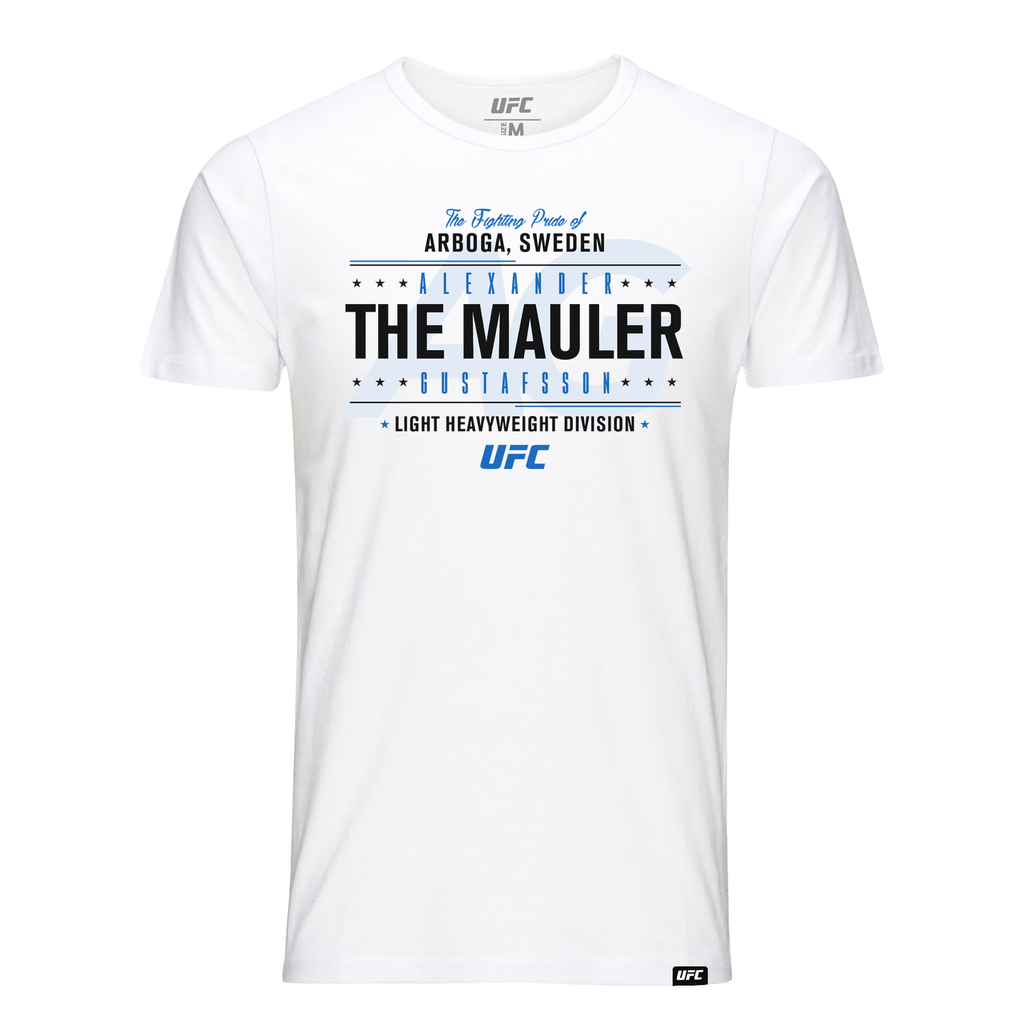 "Alexander ""The Mauler"" Gustafsson Fighting Pride T-Shirt- White"