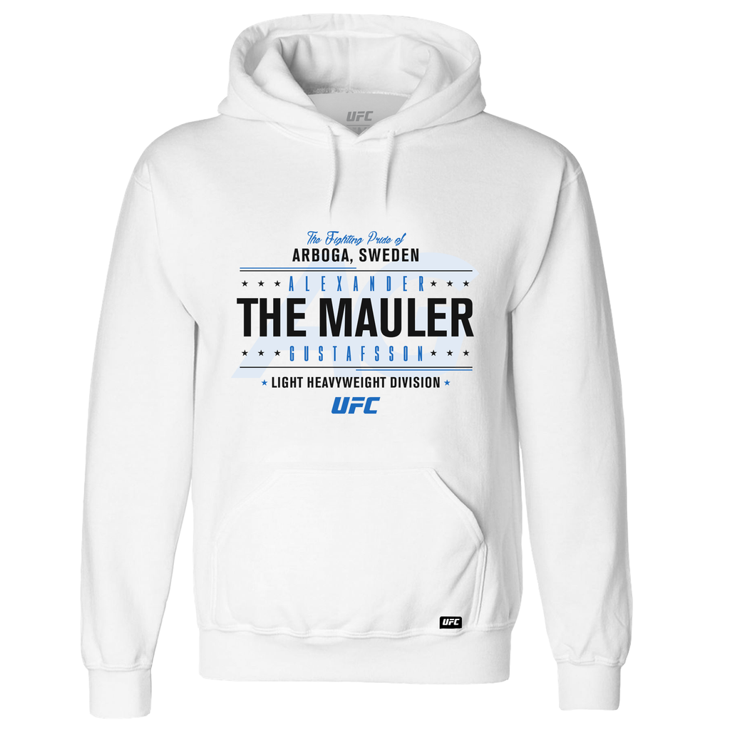 "Alexander ""The Mauler"" Gustafsson Fighting Pride Hoodie- White"